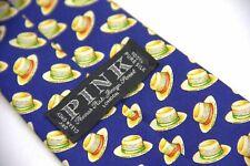 *Thomas Pink Silk Tie With Hat Print Motif