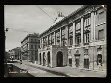 RPPC 1955 Teatro Giuseppe Verdi Tram Tracks Trieste Italy Friuli-Venezia Giulia