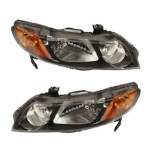 Pair Set of Left & Right Headlights Assies Genuine For Honda Civic L4 2006-08