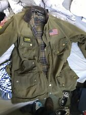 mens barbour international wax jacket