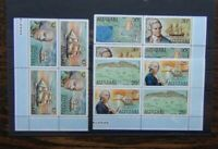 Aitutaki 1974 William Bligh's Discovery of Aitutaki AIR in block x 4 MNH 2 set