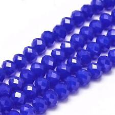 Glasschliffperlen Rondell graurose 6x4mm Perlen Beads 11089