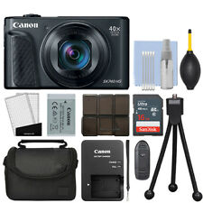 Canon PowerShot SX740 HS 20.3MP Digital Camera 40x Optical Zoom Black + 16GB Kit