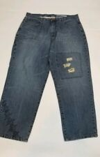 Azzure Men's Jeans, Distressed Left Knee, No Tags