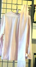Women Vintage Pink Pant suit with wide legs pants, pretty sash and same fabric b