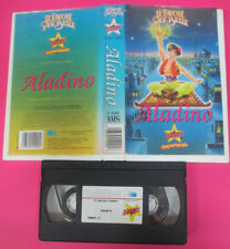 VHS film ALADINO Le favole piu'belle STARDUST S 12095 animazione (F119) no dvd