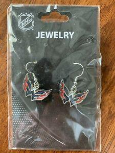 NHL Washington Capitals Team Logo Earrings by Sisklyou Sports New