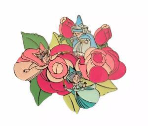 Disney Loungefly Pin Floral Sidekick Flora Fauna Merryweather Blind Box Mystery
