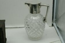 Mappin & Webb STERLING SILVER  & Cut Crystal / Glass Claret Jug faceted 1899