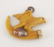 Vintage / Antique 10k Gold FOE Fraternal Order Of Eagles Watch Fob