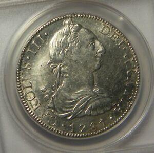 1781 FF 8 Reales:   ANACS AU58:   Mexico City Mint