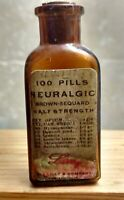 Vintage Medicine Hand Crafted Bottle, Neuralgic (Lilly) w/Cannabis and Opium