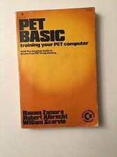 COMMODORE VINTAGE Pet formazione di base il vostro animale domestico computer Ramon ZAMORA