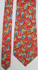"""-AUTHENTIQUE  cravate cravatte BURBERRYS """" la harpe"""" 100% soie  TBEG  vintage"""