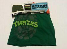 Men Boxer Brief Action Underwear Small 28-30 Green Teenage Mutant Ninja Turtles