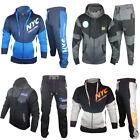 Mens Full Tracksuit Fleece Hooded Jogging Bottms Joggers - S M L XL PRINTED