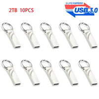 2TB Flash Drive USB 3.0 Memory Stick Pen Drive U Disk Metal Key Thumb PC Laptop