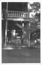 RPPC WEAVERVILLE, CA Spiral Staircase Red & White Store IOOF ca 1940s Postcard