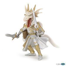 Hombre Dragón Blanco 10cm Fantasía Papo 36007