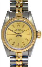 Rolex Oyster Perpetual No Date 18k Yellow Gold & Steel Ladies 26mm Watch 67193