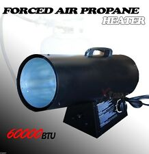 60000BTU SPACE OUTDOOR HEATER FORCED AIR PROPANE LP GAS WAREHOUSE OUTDOOR