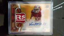 2013 Topps Finest Gold Refractor Vance McDonald 2 Clr Logo Patch Auto Rc # 35/50