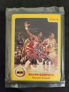 1983-84 STAR HOUSTON ROCKETS team set (RALPH SAMPSON rookie) FACTORY SEALED BAG!