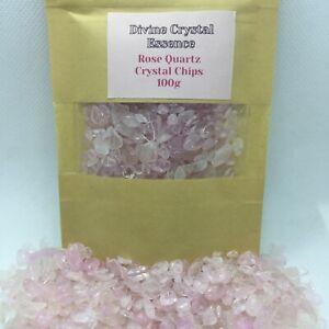 ROSE QUARTZ Quality Crystal Chips💖100g Packet Natural Pink Love Gemstones💎💎💎