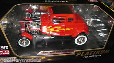 1/18 MOTOR MAX PLATINUM COLLECTION 1932 FORD HOT ROD RED LTD ED AWESOME LOOKING