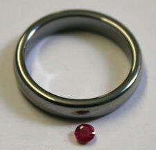 RUBINO NATURALE Gemstone 3mm ROUND Cut Loose Sfaccettato 0.25ct Gem Minerali ru46e