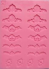 Baroque Mini Lace 16 cav Silicone Mold for Fondant, Gum Paste, Chocolate, Crafts