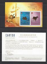 China Hong Kong 2009 New Year Gold Silver Ox Rat Stamp S/S