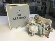 "Superb Rare Retired 8 5/8"" Lladro #5735 Big Sister Figurine Glazed Mint In Box"