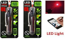 Pack of 2 High Power Red Laser Pointer Led Light Laser Pen Stylus Usa!