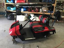 Two Tone paint job on a EZ GO TXT or RXV Golf Cart Body.