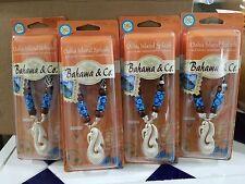 4 (Oahu Island Splash) Bahama & Co  Bone Hook Necklace, Air Fresheners
