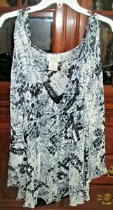 Style By Midnight Velvet Polyester 2 piece Look Top Blouse Sz 2x