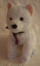 Curly Ty Classic White Puppy Dog No Hang Tag Plush Stuffed Animal Toy 11""