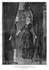 BRET HARTE 1887 ANTIQUE ENGRAVING A PHYLLIS OF THE SIERRAS BY BRET HARTE CURTAIN