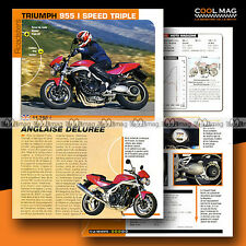 ★ TRIUMPH 955 i SPEED TRIPLE ★ 2002 Essai Moto / Original Road Test #b108