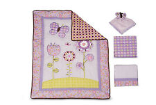 NEW 4p Graco Butterlfy Flower BABY GIRL CRIB BEDDING Set Quilt Sheets Nursery!