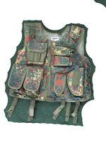 NEU SWAT Weste Einsatzweste mit Holster BW Bundeswehr Flecktarn  M L XL XXL