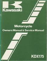 1982 KAWASAKI MOTORCYCLE KDX175 SERVICE MANUAL