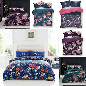 New Duvet Cover Floral Bedding Set Quilt Cover with Pillowcase Polycotton Modern