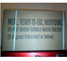 One genuine military mre (meal ready 2 eat) case  B Menu  03/18 inspection date