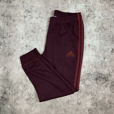 NWT Adidas Tiro 17 SweatPants Soccer Charcoal Calabasas Red Mens M Climacool