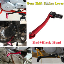 Universal Red+Black Head CNC Gear Shift Shifter Lever Motorcycle Accessories