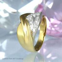 Ring in 585/- Gelbgold/Weißgold mit 8 Diamanten ca 0,16 ct Wesselton/Si2