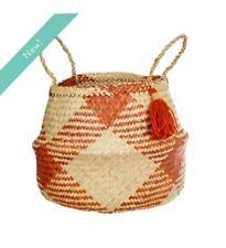 Terracotta Check Basket - Sass & Belle