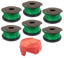 (6) Auto Feed Spools and Replacement Bump Cap for Black & Decker GH3000 Trimmer